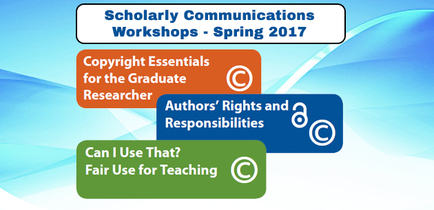 scholarly communication workshops 2017 grphic