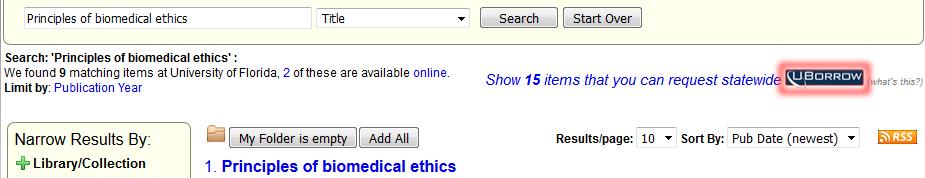 UBorrow in catalog example